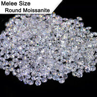 Melee Size 1.0mm,1.2mm,1.3mm,1.5mm,1.7mm,2.0mm,2.5mm Moissanite Stone F Color
