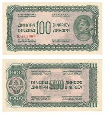 More details for yugoslavia 100 dinara banknote (1944) p.53b - unc.