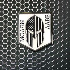 "Molon Labe Spartan Domed CHROME Emblem 3D Sticker 2""x 2.25"" Come And Take It W2"