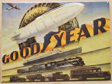 Goodyear Autoreifen - Blechschild 30x40cm Reklame Werbung Auto Zeppelin Reifen
