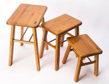 bamboo wooden stool rest stool fishing stool Rectangle bamboo stool vase base 竹凳
