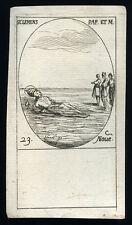 santino incisione 1600 S.CLEMENTE PAPA M.  j. callot
