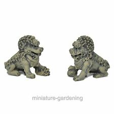 Foo Dog Pair for Miniature Garden, Fairy Garden
