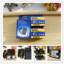 2X BN-VF808U Battery + Charger AA-VF8 for JVC Everio GZ-MG130 GZ-MG130U GZ-MG630