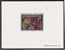 épreuve de luxe timbre France  tableau  vitrail de Troyes  1967 num: 1531