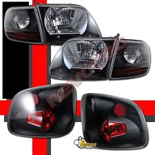 97 98 99 00 Ford F150 SVT Style Flareside Stepside Headlights + Tail Lights Set