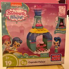 Mega Bloks Shimmer and Shine Genie Palace Bottle Shimmer Cupcake Party Set NIB