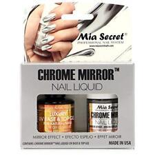 Mia Secret Chrome Mirror Nail Liquid UV Base Top Gel Set Mirror Effect Nail Liqu