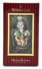 Waterford Santas Rocking Horse Holiday Blown Glass Ornament #40025866 Gift Box
