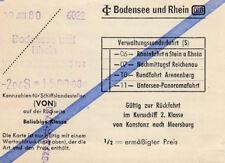 ANTIGUO BILLETE para kursschiff von Constanza N. Meersburg 1980DB (agk1673)
