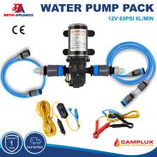 Water Pump High Pressure Diaphragm 6L/Min Alligator Clip Car Cigarette Lighter