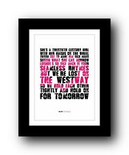 More details for blur for tomorrow #2  ❤  song lyrics typography poster art print