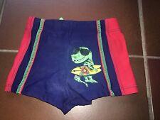 Jungen Badehose Badeshorts rot blau grün Gr. 92/98 mit Dino-Motiv