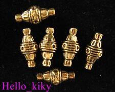 30pcs Antiqued gold plt eyed barrel spacer beads A661