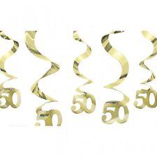 5 x HÄNGEDEKO Deko goldene Hochzeit  50. Geburtstag NEU