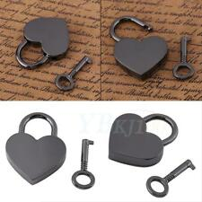 New Small Heart Shape Padlock Mini Travel Suitcase Bag Diary Lock Key