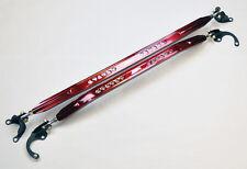 Front & Rear Upper Strut Brace Bar JDM Sport Red for Honda Civic Acura Integra