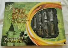 Lord Of The Rings Fellowship of The Ring Pewter & Bronze EFFECT Chess Set 2001