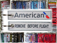 AMERICAN AIRLINES AA Airline Remove Before Flight keychain - UK - Aviadirect®