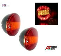 1x Pair 12v Rear Led Lights Stop Tail Indicator 3 Function Tractor Lorry Trailer