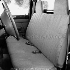 A23 12mm Triple Stitched Thick Small Pickup Truck CHARCOAL Bench Seat Cover