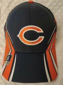 New Chicago BEARS NFL Reebok HAT Orange/Blue Adult Size Stretch Fit L/XL NWT Cap