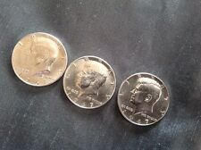Lot of three 1967 Kennedy half dollar coins excellent