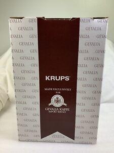 NEW KRUPS GEVALIA KAFFE VINTAGE White 10 CupCoffee Maker Model 396. Never Used
