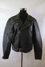 D00660 VTG WALDEN MILLER Rider Cuir Cruiser Brando Motorcycle Leather Jacket 40