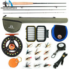 Maxcatch Fly Fishing Rod Combo,1/2/3WT Rod, Reel, Line Outfit For Small Stream