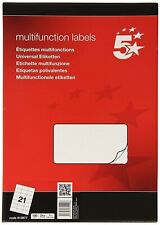 Multi functional Address Label Laser 21 per Sheets 70X42.4mm White [100 Sheets]