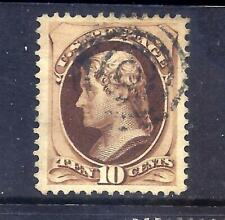 US Stamps - #161  - USED - 10 cent Jefferson Issue  - CV $25 - target cancel