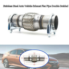 """2"""" Stainless Steel Auto Car Exhaust Flex Pipe Double Braided Kit Heavy Duty Part"""