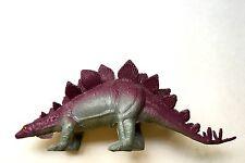 1985 Vintage Stegosaurus Imperial China Molded Plastic Dinosaur Toy Figure Euc
