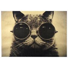 Artesanía Papel Kraft Retro Carteles De Gato Arte  Pared Decoración Clásico