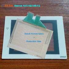 for Omron NS5-SQ10B-V2, NS5SQ10BV2 Touch Panel Glass with Protective Film New