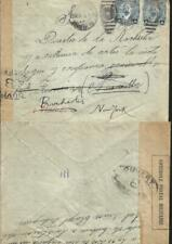 J) 1916 MEXICO, FRANCISCO I MADERO, PAIR, CONTROLE POSTAL MILITAIRE, OPENED BY
