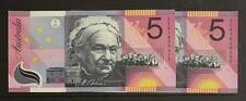 2001 AUSTRALIA FEDERATION $5 CONSECUTIVE PAIR UNCIRCULATED BANKNOTES