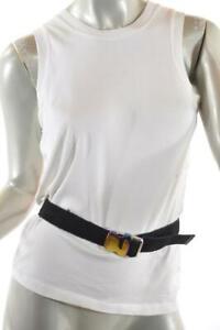 "PROENZA SCHOULER Black Nylon 1.25"" Wide Military Style Buckle Adjust Belt Sz M"
