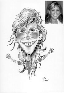 Personalised caricature of one from your photo your Happy Birthday gifts