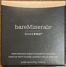 BAREMINERALS • BAREPRO •  PERFORMANCE WEAR POWDER  FOUNDATION • FAIR 01 • W 10G