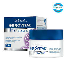 Gerovital H3 Classic Cream for mature, dry, wrinkled skin, age 55+, 50 ml