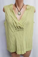 MIXIT GREEN MESH SMART TOP SIZE 14 SMART CASUAL PARTY TOP