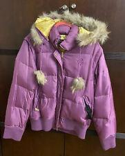 Roca Wear Puple Puffer Convertible Coat/jacket / Vest Woman Plus