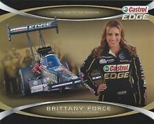 Brittany Force 2014 Castrol EDGE NHRA Drag Racing Top Fuel Dragster HANDOUT