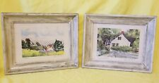 "2  VINTAGE SIGNED WATER COLOR PAINTING 13""x16"""
