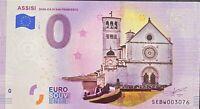 BILLET 0  EURO ASSISSE  COULEUR  ITALIE 2019 NUMERO DIVERS