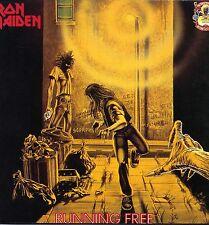"""IRON MAIDEN """"RUNNING FREE"""" ORIG EEC 2 X 12"""" EP 1990"""