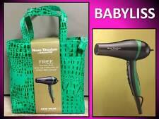 BABYLISS PRO 2000 WATT NANO TITANIUM HAIR BLOW DRYER GREEN STRIPE CROC TOTE BAG