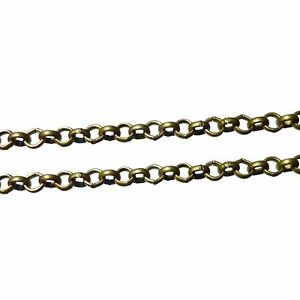 2, 5 or 10m Antique Bronze Iron Rolo Belcher Chain 2mmx0.6mm Nickel Free